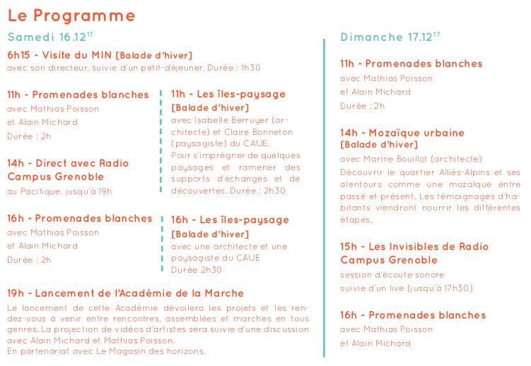 Programme du 16 et 17.12