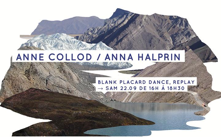 Anne Collod / Anna Halprin - Blank Placard Dance, Replay - sam 22.09 de 16h à 18h30